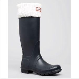 NIB Hunter Fleece White Tall Boot Socks